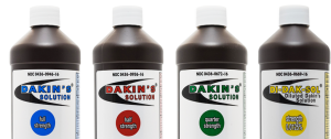 Four bottles of Dakin's Solution